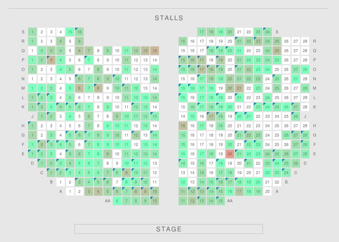 Over 50 cutting-edge interactive seating plans to help find the best seats